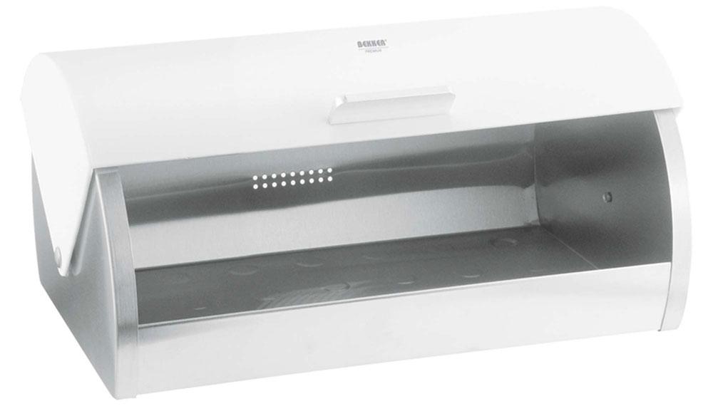 Хлебница Bekker Premium, цвет: стальной, белый, 39 х 25,5 х 18 смBK-4804Хлебница Bekker Premium изготовлена из высококачественной нержавеющей стали с матовой полировкой. Крышка плотно и легко закрывается.Изделие предназначено для хранения хлеба, чипсов, кексов и других хлебобулочных изделий. Вместительность, функциональность и стильный дизайн позволят хлебнице стать не только незаменимым аксессуаром на кухне, но и предметом украшения интерьера. В ней хлеб всегда останется свежим и вкусным.