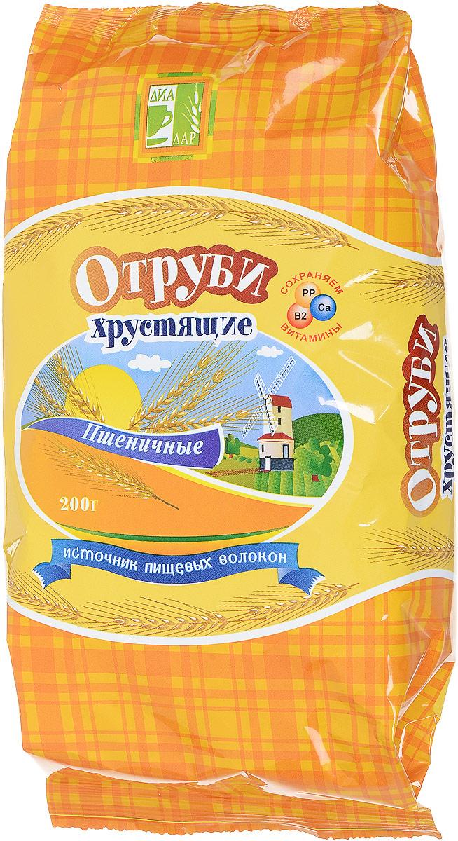 Диадар Отруби хрустящие Пшеничные, 200 г сибирские отруби хрустящие сила ягод 100 г