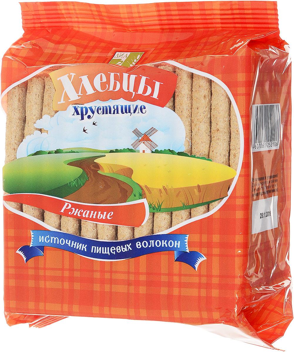Диадар Хлебцы Ржаные, 100 г диадар отруби хрустящие ржаные бородинские 200 г