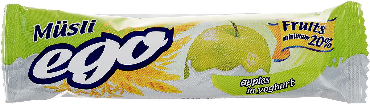 Ego Батончик мюсли со вкусом Яблоко в йогурте, 25 г