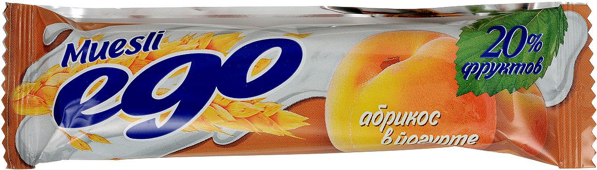Ego Батончик мюсли со вкусом Абрикос в йогурте, 25 г4607061252483Батончики мюсли Ego - это новое поколение диетических продуктов, концентрированный набор крупноволокнистой пищи, витаминов и микроэлементов. Они изготавливаются из пшеничных и овсяных хлопьев, экструдированной кукурузы и риса, различных фруктов, семян подсолнечника, орехов и мальтозного сиропа. Прекрасно подходят для диетического питания.Уважаемые клиенты! Обращаем ваше внимание, что полный перечень состава продукта представлен на дополнительном изображении.