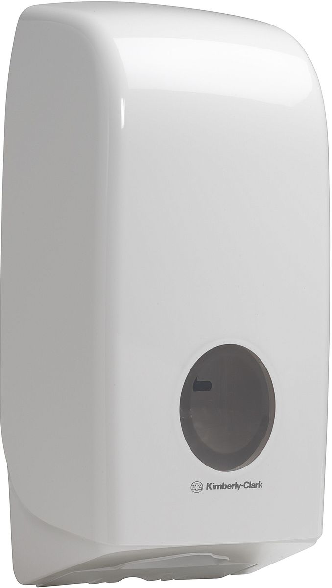 Диспенсер Aquarius, для сложенной туалетной бумаги, цвет: белый. 69466946Ассортимент диспенсеров для сложенной туалетной бумаги из скоординированной линейки диспенсеров для туалетных комнат. Диспенсеры мотивируют сотрудников соблюдать гигиенические нормы, повышают уровень комфорта, демонстрируют заботу о персонале и помогают сократить расходы.Идеальное решение, обеспечивающее подачу по одному листу без касания диспенсера, снижение риска перекрестного загрязнения и предотвращение распространения бактерий. Наше уникальное запатентованное устройство защиты от переполнения облегчает процесс заправки, помогает предотвратить заминание продукта и снижает объем отходовФормат поставки: диспенсер современного дизайна, обтекаемой формы, обеспечивающий быструю заправку; белое глянцевое, легко очищаемое покрытие; отсутствие мест скопления пыли и грязи; смотровое окно для контроля за расходными материалами; возможность выбора цветовых вставок в соответствие с интерьером конкретных туалетных комнат. Замена диспенсера 6975. Совместим с туалетной бумагой: 8035, 8036, 8408, 8409, 8508, 8109.