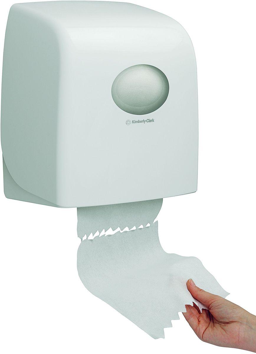 Диспенсер для бумажных полотенец Aquarius, рулон, цвет: белый. 69536953Относится к категории диспенсеров для рулонных бумажных полотенец, представленных в рамках серии диспенсеров AQUARIUS®, которые были разработаны для повышения уровня гигиены и эффективности использования бумажных полотенец в туалетных комнатах, с целью создания лучших условий для исключительного опыта пользователя. Идеальное решение, применимое в помещениях с высокой проходимостью, для гигиеничной подачи по одному листу бумажных рулонных полотенец, без прикосновения к диспенсеру. Подходит для помещений с ограниченным пространством; компактная и легко заправляемая система, гигиеничное и экономичное решение, прост в обслуживании.Белый диспенсер, закрывающийся на ключ или при помощи блокировочной кнопки, применим для загрузки рулонных полотенец длиной 165м. Это обеспечивает подачу до 600 листов (при отрыве листа 25см). Гигиеничный обтекаемый дизайн, с легко очищаемым покрытием, без каких-либо углублений, где могла бы скапливаться пыль или грязь. Совместим с полотенцами: 6657 , 6697.