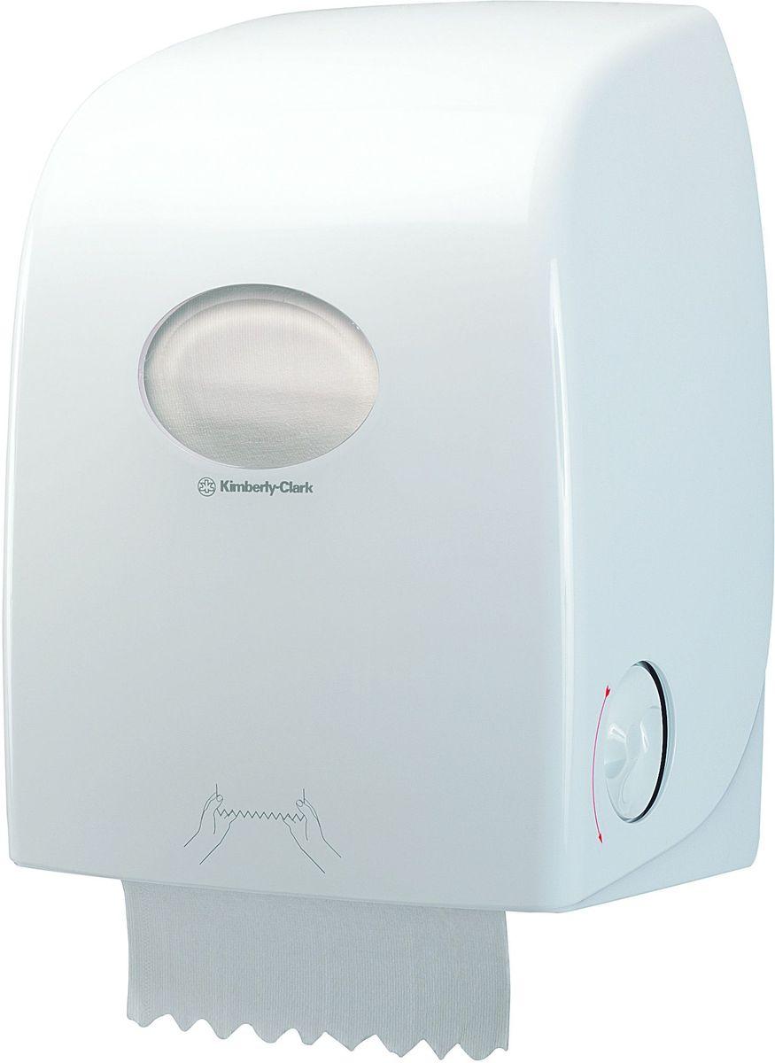 Диспенсер для бумажных полотенец Aquarius, рулон, цвет: белый. 69596959Ассортимент диспенсеров для рулонных бумажных полотенец из скоординированной линейки диспенсеров для туалетных комнат. Диспенсеры мотивируют сотрудников соблюдать гигиенические нормы, повышают уровень комфорта, демонстрируют заботу о персонале и помогают сократить расходы. Идеальное решение, обеспечивающее подачу по одному листу без касания диспенсера, снижение риска перекрестного загрязнения и предотвращение распространения бактерий. Наше уникальное запатентованное устройство защиты от переполнения облегчает процесс заправки, помогает предотвратить заминание продукта и снижает объем отходовФормат поставки: диспенсер современного дизайна, обтекаемой формы, обеспечивающий быструю заправку; белое глянцевое, легко очищаемое покрытие; отсутствие мест скопления пыли и грязи; смотровое окно для контроля за расходными материалами; возможность выбора цветовых вставок в соответствие с интерьером конкретных туалетных комнат. Совместим с полотенцами: 6063, 6657, 6667, 6668, 6687, 6688, 6765.