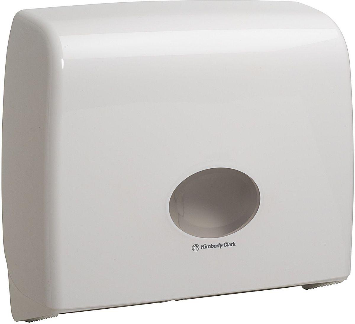 Диспенсер для туалетной бумаги Aquarius Jumbo, большой рулон, цвет: белый. 69916991Ассортимент диспенсеров для рулонной туалетной бумаги, которые выполнены в одном стиле с диспенсерами для мыла и для полотенец для рук. Диспенсеры мотивируют сотрудников соблюдать гигиенические нормы, повышают уровень комфорта, демонстрируют заботу о персонале и помогают сократить расходы. Идеальное решение, обеспечивающее подачу рулонной туалетной бумаги из элегантного диспенсера в туалетных комнатах с высокой проходимостью, легкая загрузка, практичное, гигиеничное и экономичное решение.Формат поставки: диспенсер современного дизайна, обтекаемой формы, обеспечивающий быструю заправку; белое глянцевое, легко очищаемое покрытие; отсутствие мест скопления пыли и грязи; смотровое окно для контроля за расходными материалами; возможность выбора цветовых вставок в соответствие с интерьером конкретных туалетных комнат. Замена диспенсера 6987. Совместим с туалетной бумагой: 8440, 8442, 8446, 8449, 8474, 8484, 8517, 8519, 8559.