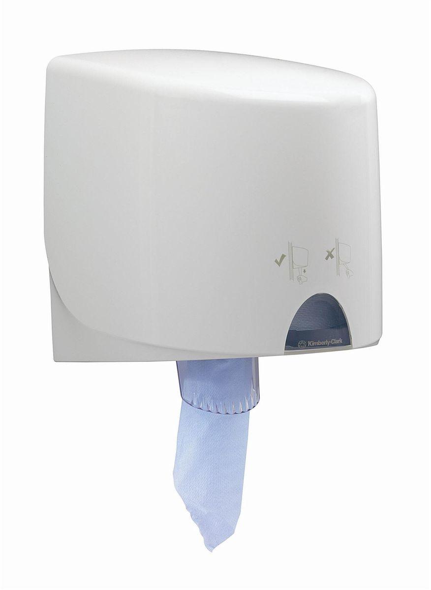 Диспенсер для протирочных салфеток Aquarius, малый рулон, цвет: белый. 70187018Диспенсеры для протирочных материалов с центральной подачей, которые повышают уровень гигиены, позволяют контролировать расход продукта и сократить издержки. Идеальное решение, обеспечивающее быструю и легкую подачу по одному листу протирочных салфеток в рулонах без прикосновения к диспенсеру; помогает поддерживать высокие стандарты гигиены на загруженных участках пищевого производства. Формат поставки: быстро заправляемый диспенсер с возможностью блокировки (при помощи ключа или кнопки); белое гладкое водостойкое покрытие (соответствует стандартам безопасности пищевых продуктов). Имеется смотровое окно для контроля за наличием расходного материала в диспенсере. Диспенсер подходит для артикулов: 7490, 7491, 7492, 7493, 7494, 7495. Диспенсер-аналог выведенному из ассортимента арт. 7928.