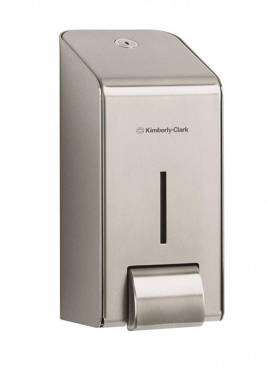 Диспенсер для мыла Kimberly-Clark Professional, цвет: металлический. 89738973Ассортимент профессиональных диспенсеров для моющих средств для рук из премиальной линейки металлических диспенсеров для туалетных комнат Kimberly-Clark Professional. Диспенсеры мотивируют сотрудников соблюдать гигиенические нормы, повышают уровень комфорта, демонстрируют заботу о персонале и помогают сократить расходы. Идеальное решение, обеспечивающее подачу жидкого мыла и дезинфицирующих средств для рук KLEENEX® в туалетных комнатах офисов и гостиниц с высокими требованиями к интерьеру. Помогает исключить риск перекрестного загрязнения и предотвратить распространение бактерий. Диспенсер имеет окно для контроля за остатком расходного материала, выполнен из 2мм нержавеющей стали с обработанными краями для большей безопасности при заправке расходных материалов. Может запираться на ключ.Формат поставки: элегантный диспенсер; надежное крепление, корпус выполнен из нержавеющей стали. Совместим с моющими средствами: 6330, 6331, 6332, 6333, 6334, 6340, 6341, 6342, 6352, 6385.
