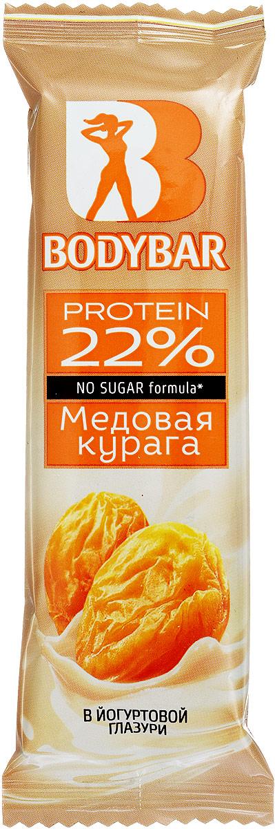 Bodybar Батончик протеиновый 22% со вкусом Медовая курага в йогуртовой глазури, 50 г эвалар спортэксперт протеиновый батончик 50г 1