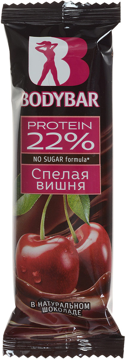 Bodybar Батончик протеиновый 22% со вкусом Спелая вишня в горьком шоколаде, 50 г каша молочная heinz овсяная с бананом с 6 мес 250 гр