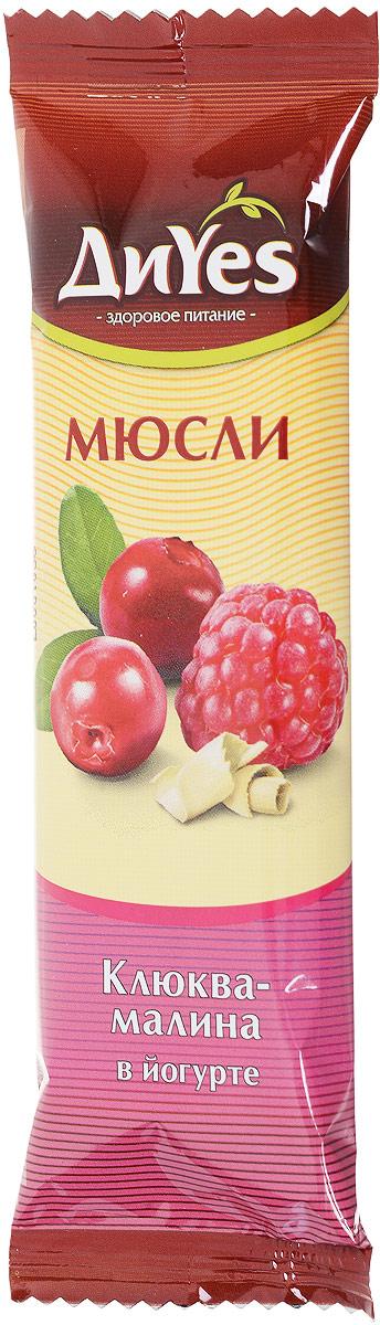 ДиYes Батончик мюсли Клюква-малина в йогурте, 25 г  недорого