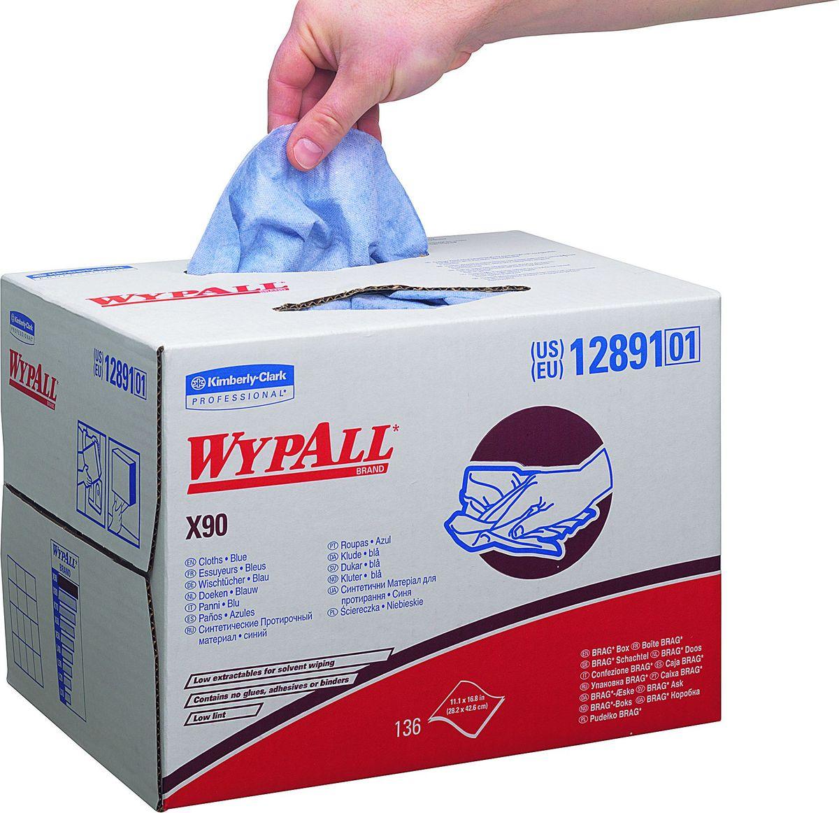 Салфетки бумажные Wypall  Х90 , 152 шт. 12891 - Туалетная бумага, салфетки