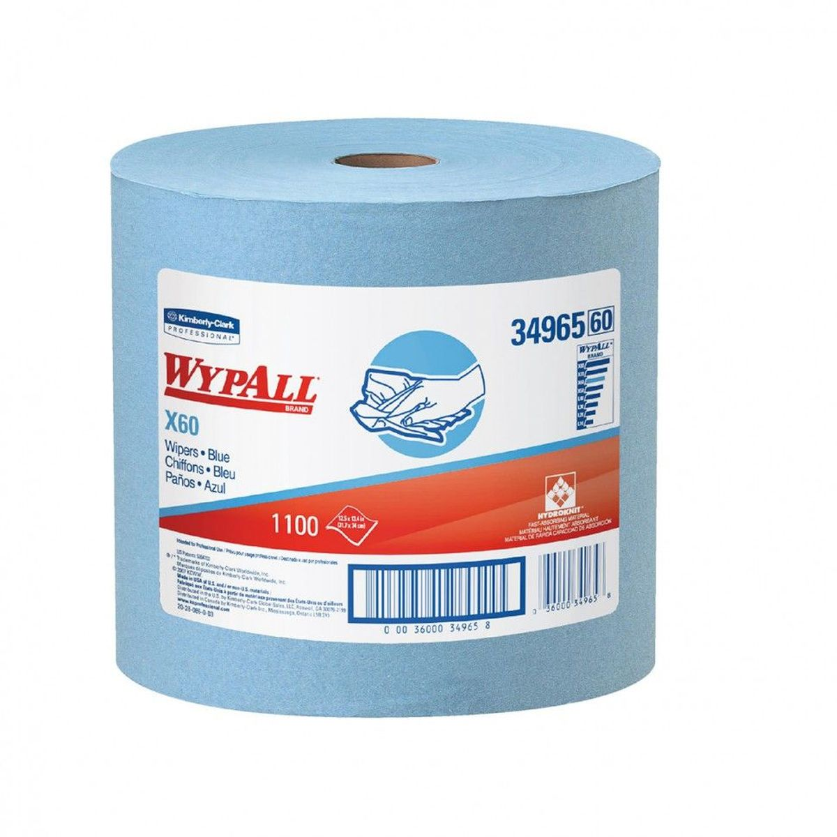 Полотенца бумажные Wypall  Х60 , 1100 шт - Туалетная бумага, салфетки