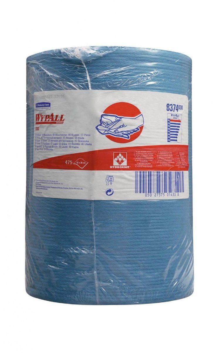 Полотенца бумажные Wypall Х80, 475 шт8374Бумажные полотенца Wypall Х80 изготовленные из целлюлозы и синтетики, обладают отличной впитывающей способностью, долговечностью и прочностью, как в сухом, так и во влажном состоянии. Подходят для работы по очистке от клея, масла, мусора, стекол, а также для прецизионной очистки сложных механизмов и деталей.