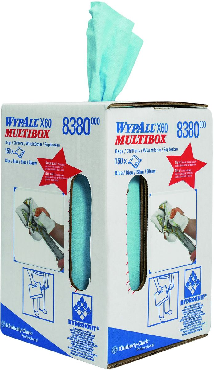 Полотенца бумажные Wypall Х60, 150 шт8380Бумажные полотенца Wypall Х60 обладают отличной впитывающей способностью, долговечностью и прочностью, как в сухом, так и во влажном состоянии. Полотенца могут использоваться с большинством растворителей, обеспечивают быструю очистку и помогают сократить расходы. Подходят для работы по очистке от клея, масла, мусора, стекол, а также для прецизионной очистки сложных механизмов и деталей.