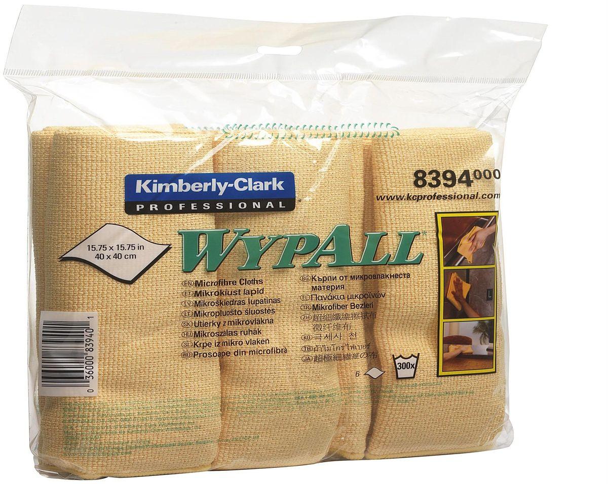 Салфетка для уборки Wypall, универсальная, цвет: желый, 40 х 40 см, 24 шт8394Универсальная салфетка Wypall, выполненная из микрофибры, уменьшает риск перекрестного загрязнения, обеспечивает очистку без применения химикатов и помогает снизить затраты. Салфетка идеально подходит для очистки рабочих столов и других поверхностей. В комплекте 4 упаковки по 6 салфеток.Размер салфетки: 40 х 40 см.
