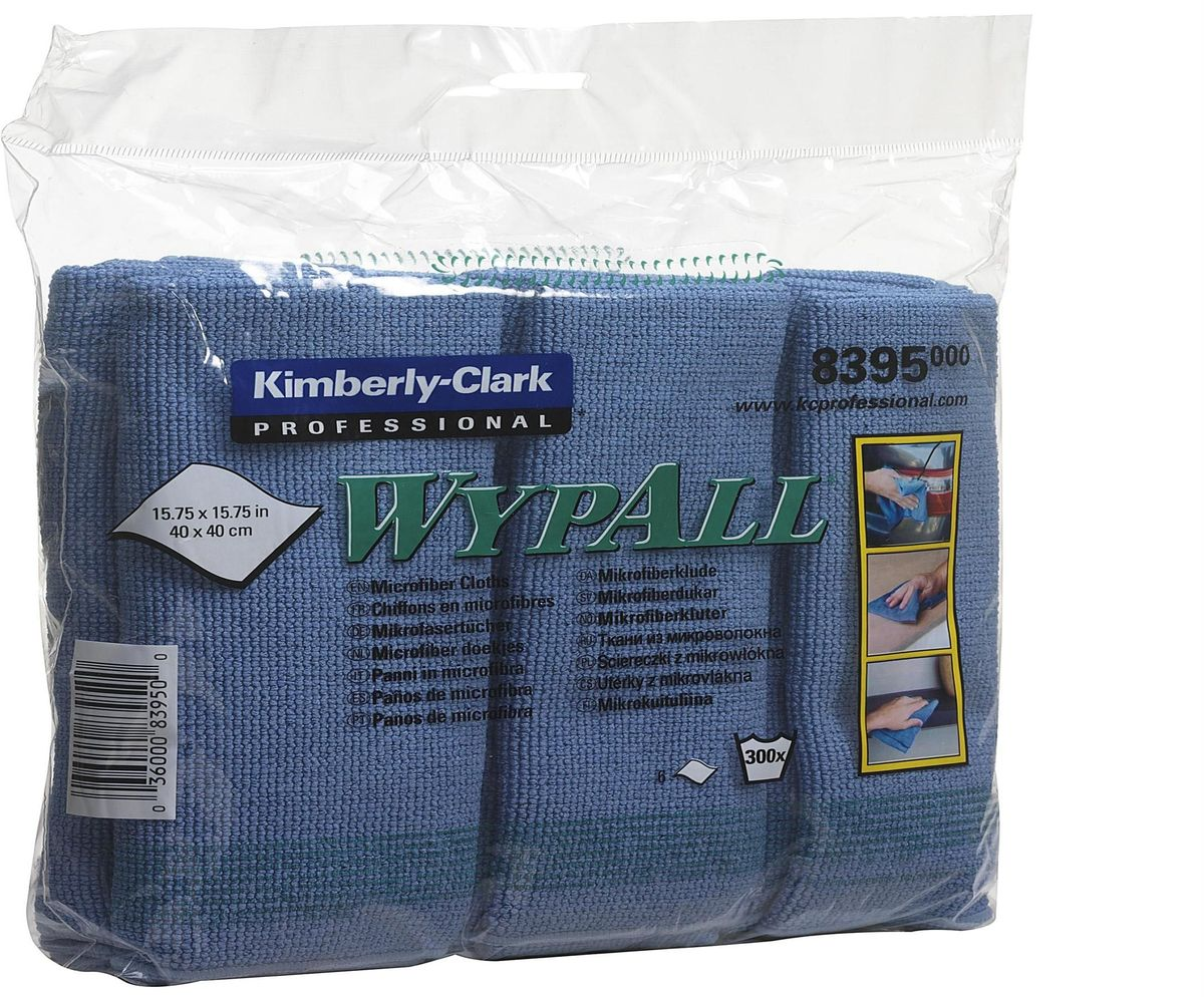 Салфетка для уборки Wypall, универсальная, цвет: синий, 40 х 40 см, 24 шт8395Универсальная салфетка Wypall, выполненная из микрофибры, уменьшает риск перекрестного загрязнения, обеспечивает очистку без применения химикатов и помогает снизить затраты. Салфетка идеально подходит для очистки рабочих столов и других поверхностей. В комплекте 4 упаковки по 6 салфеток.Размер салфетки: 40 х 40 см.