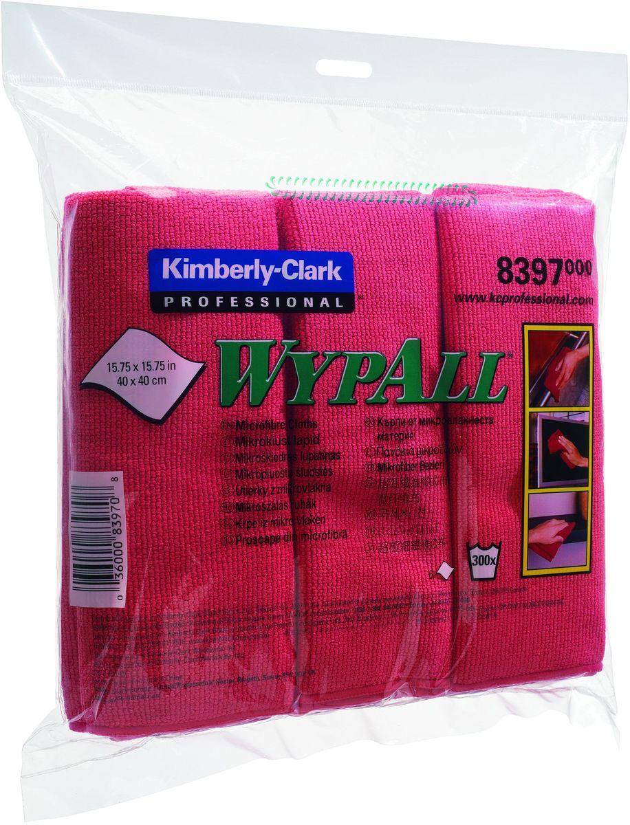 Салфетка для уборки Wypall, универсальная, цвет: красный, 40 х 40 см, 24 шт8397Универсальная салфетка Wypall, выполненная из микрофибры, уменьшает риск перекрестного загрязнения, обеспечивает очистку без применения химикатов и помогает снизить затраты. Салфетка идеально подходит для очистки рабочих столов и других поверхностей. В комплекте 4 упаковки по 6 салфеток.Размер салфетки: 40 х 40 см.