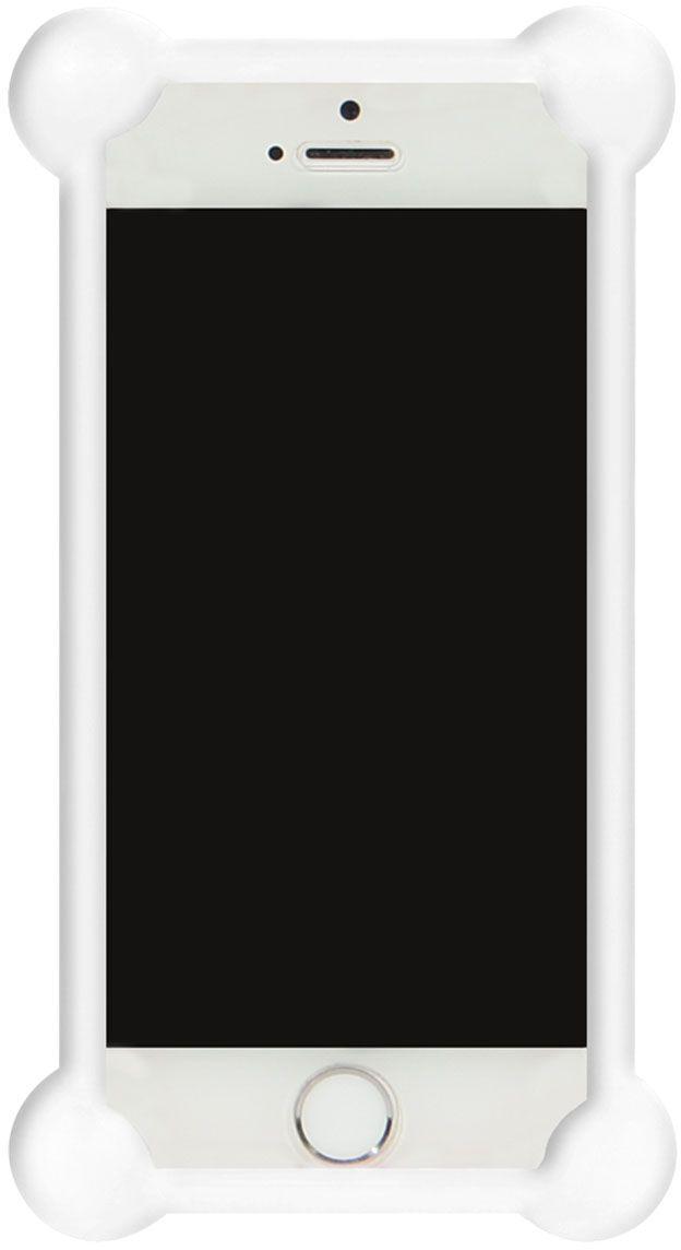 IQ Format, White универсальный чехол для смартфонов с диагональю 3,5-4,74627104422437Универсальный силиконовый бампер IQ Format - надежная защита вашего телефона от внешних неприятностей. Подходит для смартфонов с диагональю от 3,5 до 4,7 дюймов. Обеспечивает свободный доступ к разъемам и портам устройства.
