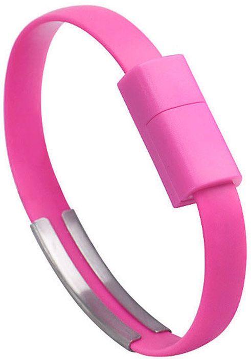 IQ Format, Pink кабель-браслет USB-Lightning iq format blue кабель браслет usb micro usb