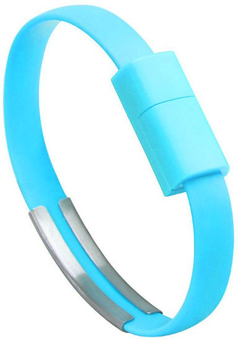 IQ Format, Blue кабель-браслет USB-Lightning дата кабель lightning usb экокожа сладости iq format