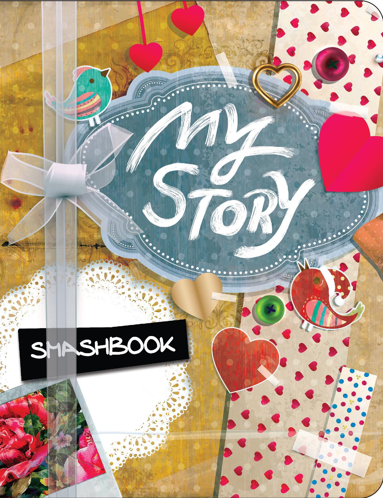 My story. Смэшбук. Блокнот для творческих людей (+ наклейки) смэшбук блокнот для творческих людей с наклейками а5 my life
