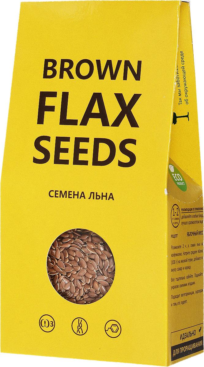 Компас Здоровья Brown Flax Seeds семена льна коричневого, 150 г био семена льна масличного аривера 210 г