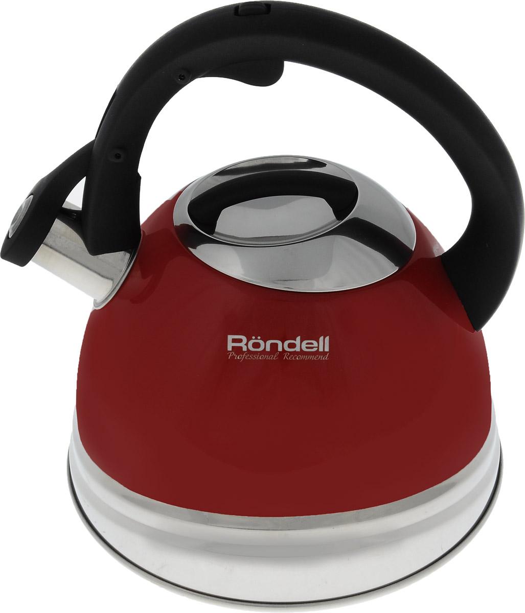 Чайник Rondell Fiero, со свистком, 3 лRDS-498Чайник Rondell Fiero изготовлен из высококачественной нержавеющей стали 18/10. Комбинированное покрытие корпуса придает изделию стильный внешний вид. Эмалевая поверхность облегчает уход. Эргономичная фиксированная ручка изготовлена из бакелита с покрытием Soft-Touch. Чайник оснащен свистком, который громким сигналом оповестит о закипании воды. Свисток открывается нажатием кнопки на рукоятке. Подходит для всех типов плит, включая индукционные. Можно мыть в посудомоечной машине. Диаметр (по верхнему краю): 10 см. Высота (без учета ручки и крышки): 14 см. Высота (с учетом ручки): 23 см.
