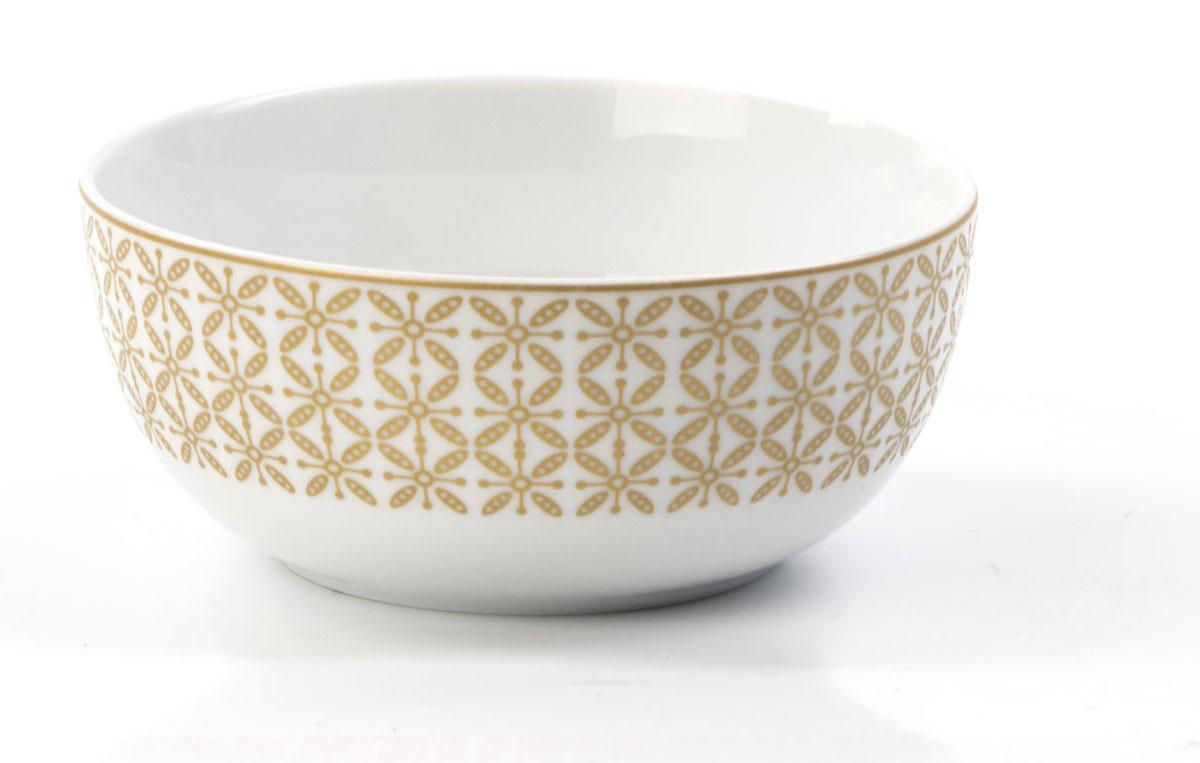 Салатник La Rose des Sables Ажур, цвет: золотой, диаметр 13 см553913 2302Салатник La Rose des Sables Ажур изготовлен из фарфора. Благодаря двойному термическому обжигу, тонкостенный фарфор обладает высокой ударопрочностью, Салатник станет ярким акцентом в сервировке вашего стола. Отлично смотрится и в классическом, и в современном интерьере. Можно использовать в СВЧ печи и мыть в посудомоечной машине.Диаметр салатника: 13 см.