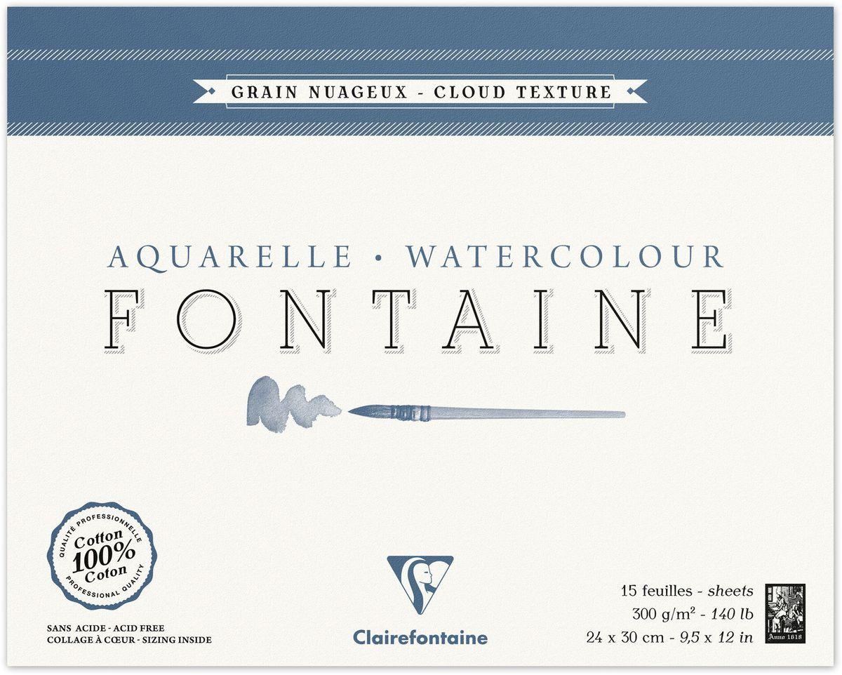 Альбом Clairefontaine  Fontaine , облачная техника, 24 х 30 см, 15 листов -  Бумага и картон