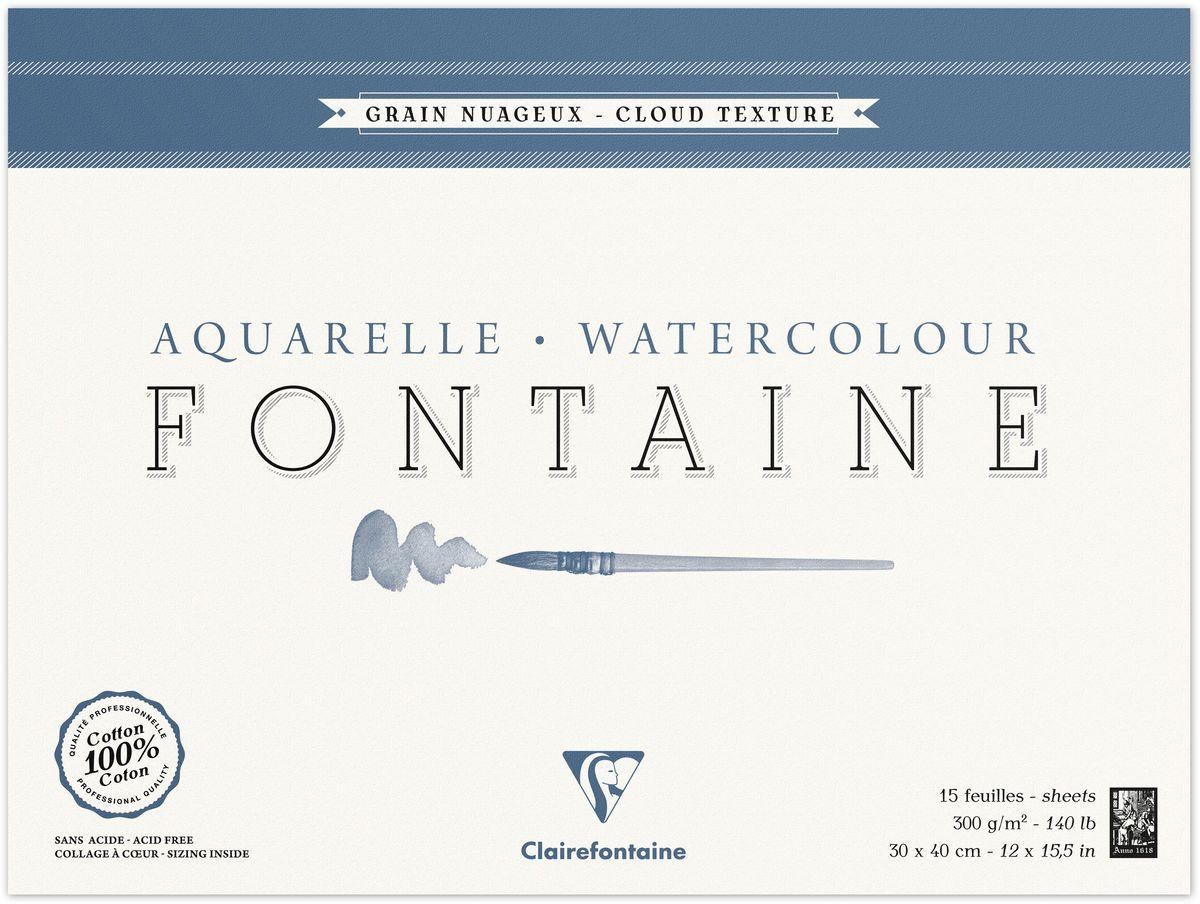 Альбом Clairefontaine  Fontaine , облачная техника, 30 х 40 см, 15 листов -  Бумага и картон