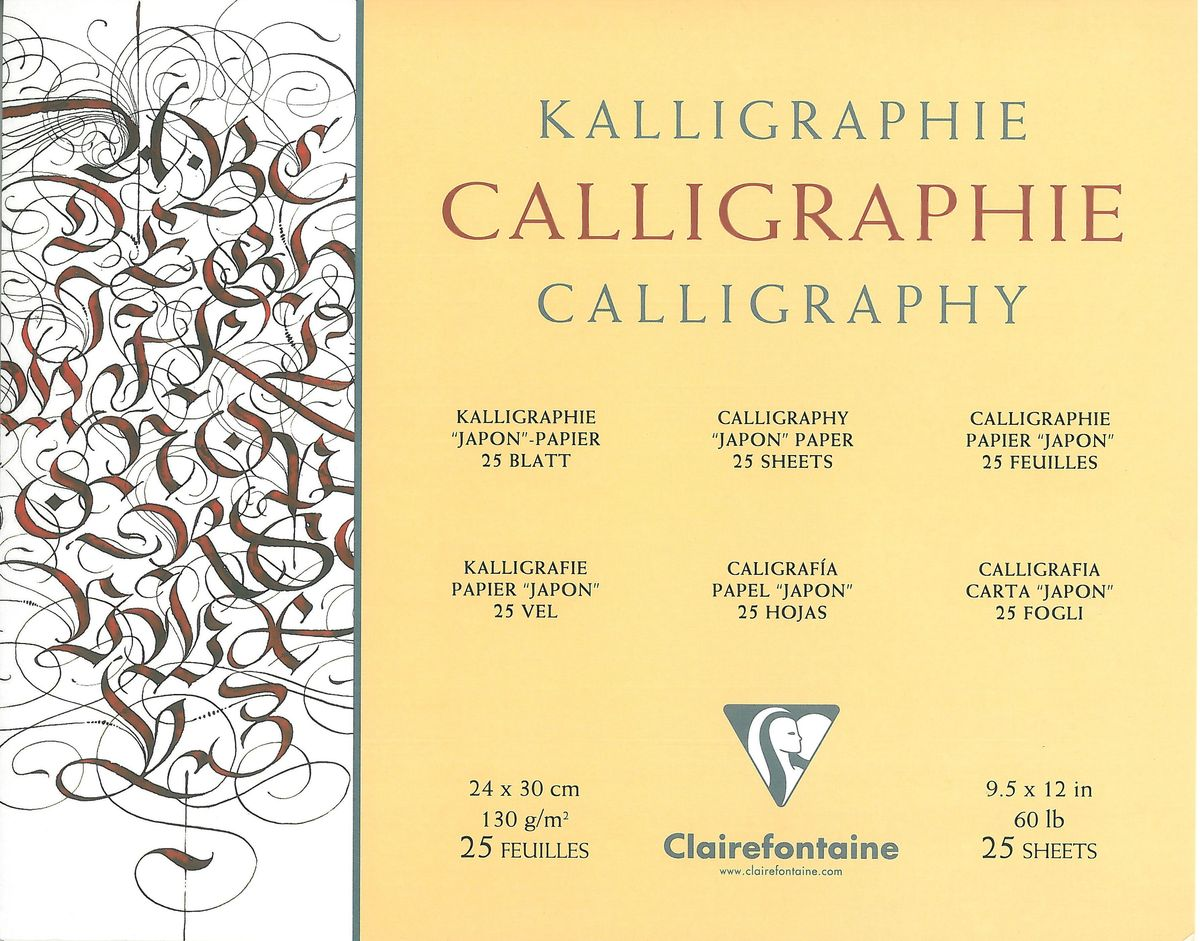 Альбом Clairefontaine  Calligraphy , для каллиграфии, 25 листов, 24 х 30 см - Бумага и картон