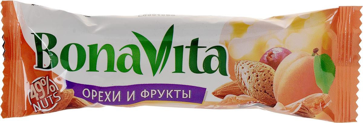 Bona Vita Батончик ореховый с фруктами и медом, 35 г пастилки дыши с медом и корицей