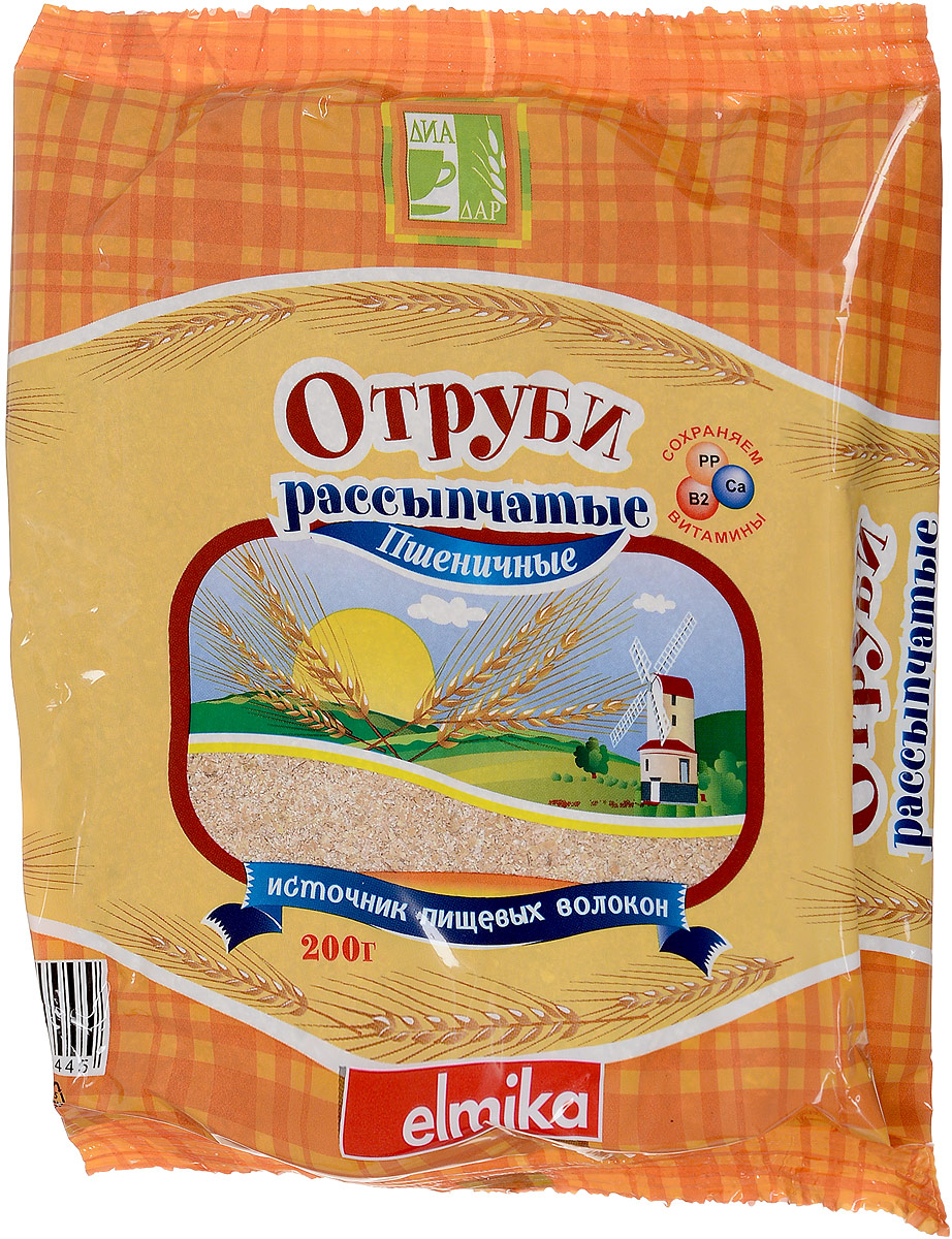 Диадар Отруби рассыпчатые Пшеничные, 200 г диадар отруби овсяные рассыпчатые 200 г