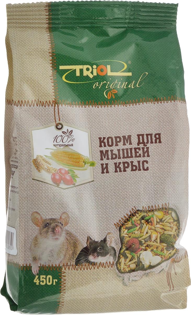 Корм для мышей и крыс Triol Original, 450 гTF-00700Корм для мышей и крыс Triol Original - полнорационный корм, разработанный специально для питания мышей и крыс. Содержит только натуральные компоненты. Корм имеет разнообразный состав, включающий овощи, зерновые культуры, семена, сушеные фрукты. Витамины в составе корма не только обеспечивают необходимые для здоровья компоненты, но и стимулируют прекрасный аппетит и интерес к корму. Оригинальная рецептура учитывает пищевые потребности вашего питомца. Сбалансированный и разнообразный состав удовлетворяет вкусовым предпочтениям и укрепляет здоровье. Товар сертифицирован.