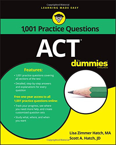 1,001 ACT Practice Problems For Dummies steven rice m 1 001 series 7 exam practice questions for dummies