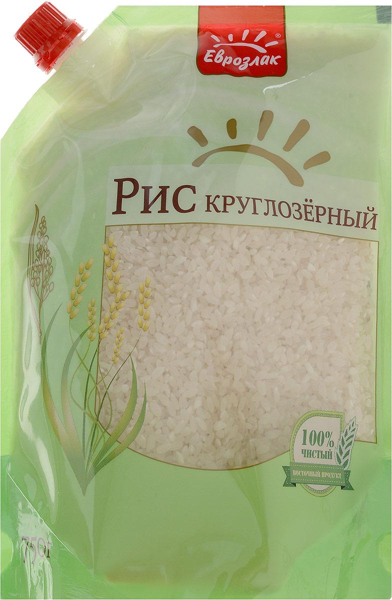 Еврозлак рис круглозерный, 750 г крупа пшено еврозлак шлифованное 750г дой пак