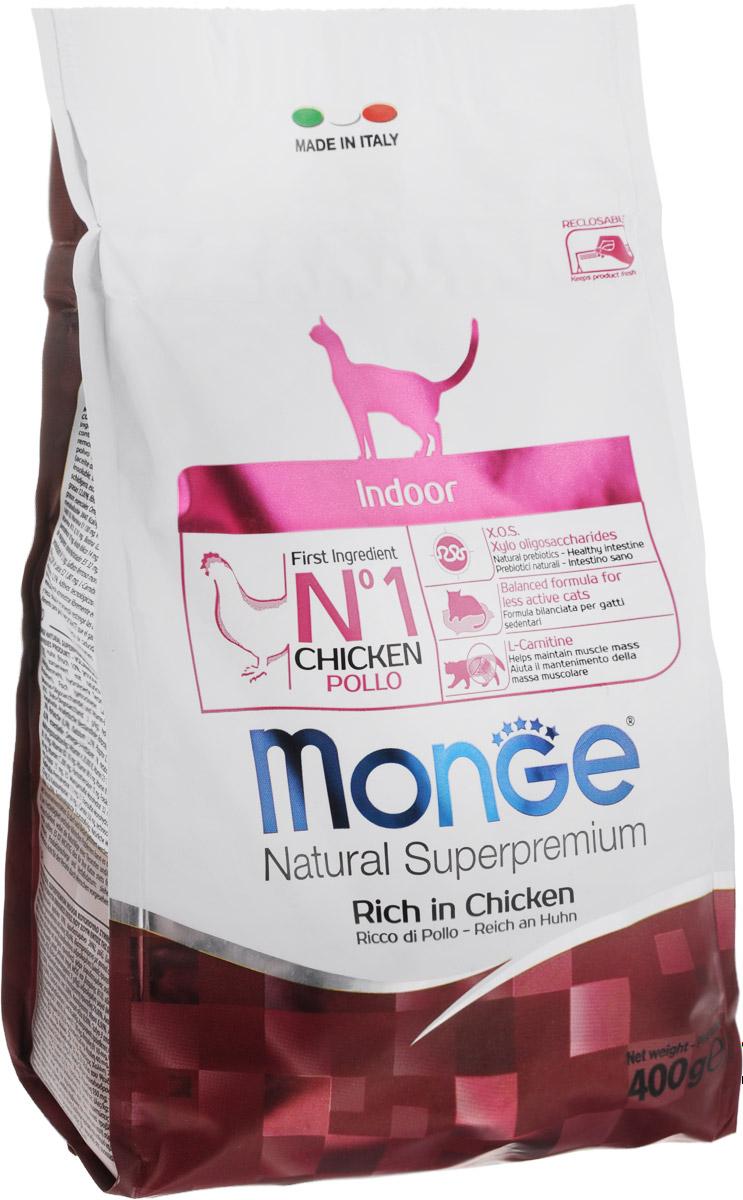 Корм сухой Monge для взрослых домашних кошек, 400 г70005104Сухой корм Monge - это полноценный корм с превосходным вкусом для домашних кошек, которые нуждаются в контролируемом питании, особенно при стерилизации. Потребление растительных волокон позволяет исключить накопления комочков шерсти в желудке. Оптимальное соотношение жировых кислот Омега-3 и Омега-6 способствует нормальному функционированию сердца, и обеспечивает идеальный баланс кишечной флоры. Также, содержит L-карнитин, который препятствует накоплению жира, сохраняя при этом функции печени животного. Безупречная рецептура данного корма удовлетворяет как аппетит кошки, так и помогает сохранить зубы здоровыми и чистыми, дыхание свежим, а шерсть блестящей.Товар сертифицирован.