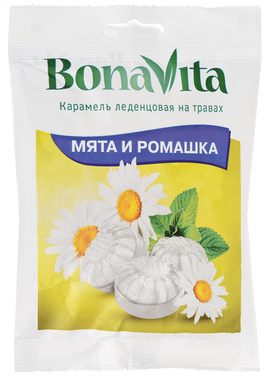 Bona Vita Карамель леденцовая Мята и ромашка на травах, 60 г bona vita батончик ореховый с семенами подсолнечника орехами и медом в шоколадной глазури 35 г