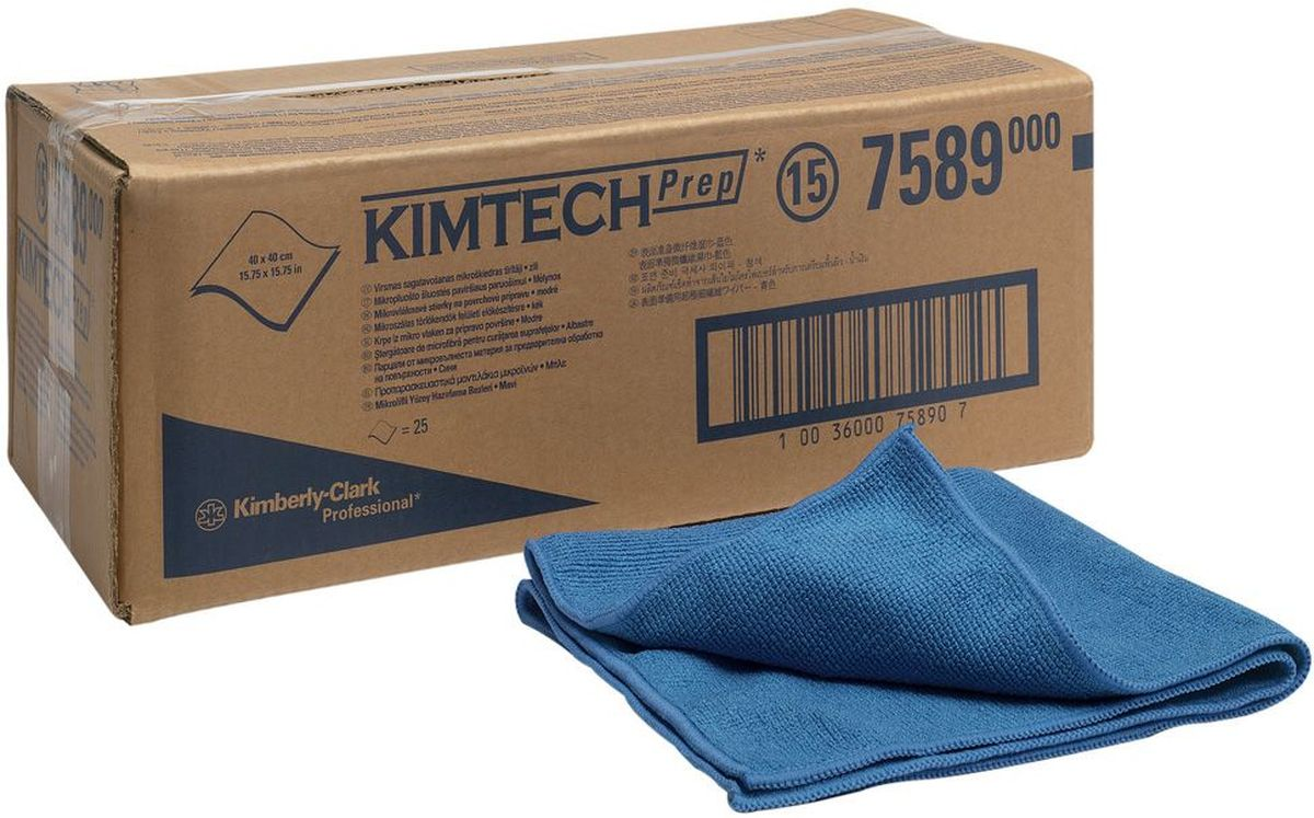 Салфетка автомобильная Kimtech, для полировки, 40 х 40 см, 25 шт. 75897589Салфетки Kimtech, выполненные из микрофибры, предназначены для использования в автомобильной промышленности, для работ до и после процесса покраски, полировки и автомобильного ремонта. Очистка и обезжиривание поверхности требуют применения безворсовых тканей не оставляющих волокон. Салфетки Kimtech обеспечивают наилучшее впитывание и улавливание пыли. Размер салфетки: 40 х 40 см.