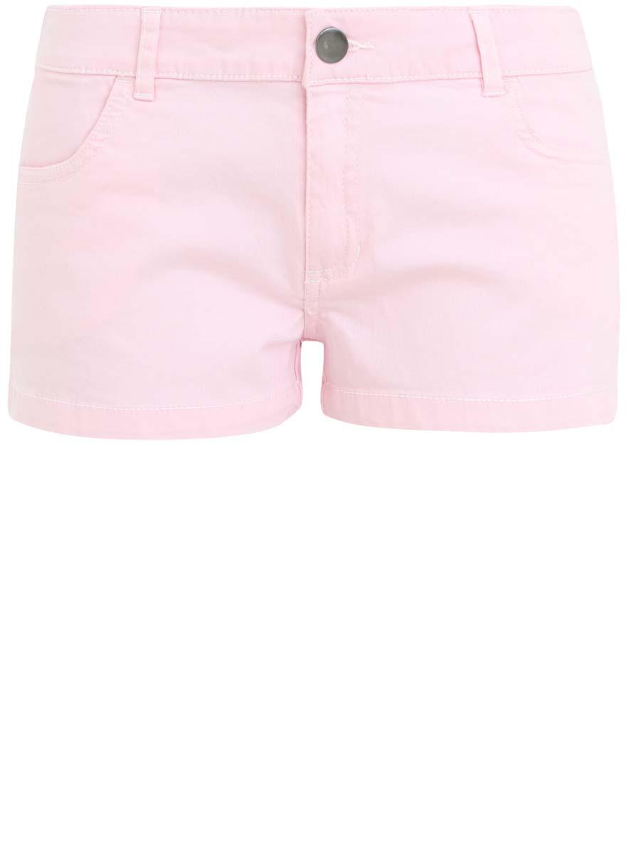 Шорты женские oodji Ultra, цвет: светло-розовый. 11804005-2/35303/4000N. Размер 44-170 (50-170) кардиган женский oodji ultra цвет светло розовый 63201002 47937 4000n размер s 44