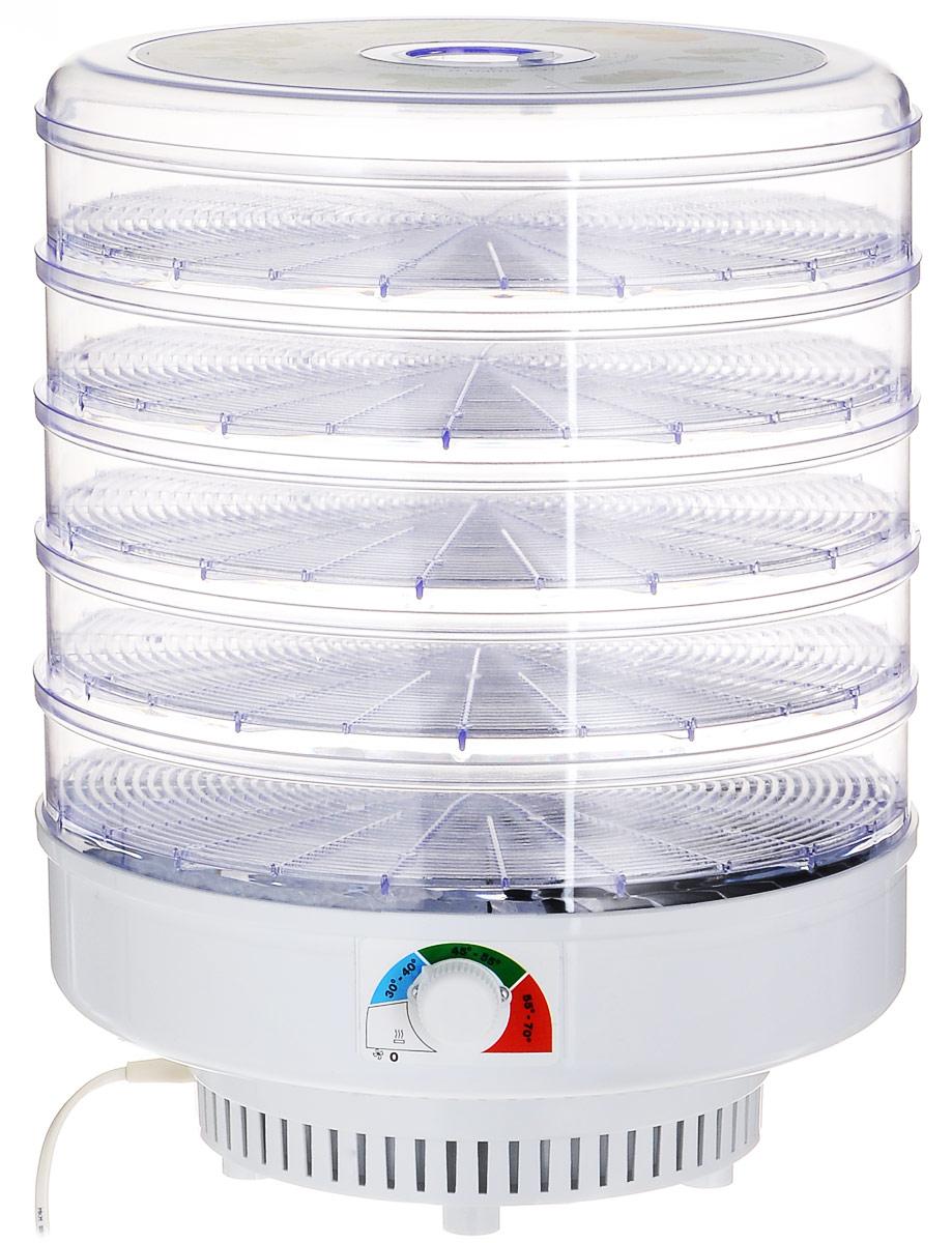 Ветерок-5, Clear сушилка для овощей и фруктовВетерок-5 прозрачныйЭлектросушитель Ветерок-5 предназначен для высушивания овощей, фруктов, ягод, грибов и лекарственных трав в домашних условиях. Можно также вялить мясо, рыбу, готовить сухари, домашнюю лапшу. Всего электросушитель насчитывает 5 прозрачных поддонов, на каждый из которых можно положить до 1 кг продуктов.