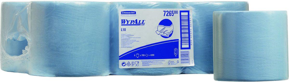 Полотенца бумажные Wypall  L10 Extra , 6 рулонов. 7265 - Туалетная бумага, салфетки