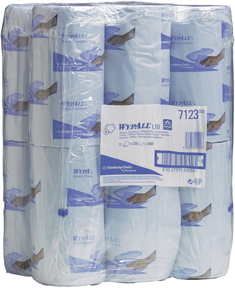 Полотенца бумажные Wypall L10, 12 рулонов. 71237123Бумажные полотенца Wypall L10 отличаются особеннойпрочностью и быстротой впитывания жидкостей. Полотенцаидеально подойдут для универсальных задач: сбора грязи,работы с маслом, протирки и впитывания жидкостей в пищевойпромышленности, а также в автомобильной индустрии имногих других областей. В набор входит: 12 рулонов. Количество листов в рулоне: 200 шт.