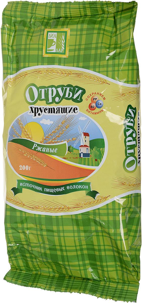 Диадар Отруби хрустящие Ржаные, 200 г диет марка отруби хрустящие пшеничные с морской капустой 200 г