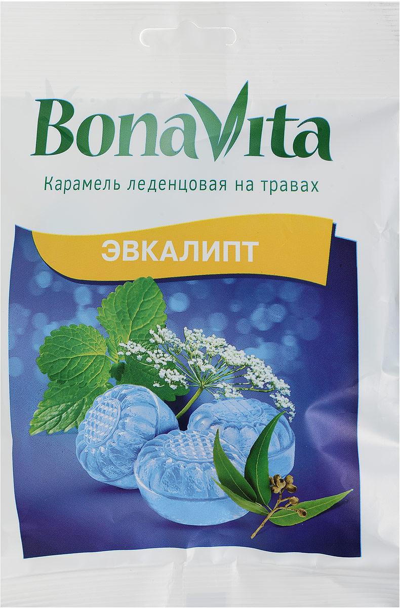 Bona Vita Карамель леденцовая Эвкалипт на травах, 60 г bona vita батончик ореховый с семенами подсолнечника орехами и медом в шоколадной глазури 35 г