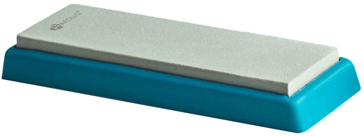 Точильный камень Apollo Zorro, цвет: голубой, 4 х 13 смZRR-01Точильный камень Apollo Zorro, изготовленный из зеленого карборунда, предназначен для основной заточки кухонных ножей из нержавеющей стали с прямым лезвием и одинаково удобен как для правшей, так и для левшей. Камень расположен на подставке, которая не скользит, чем обеспечивается дополнительный комфорт и безопасность во время процесса заточки.Зернистость камня: 1000.Размер камня: 4 х 13 см.Размер камня с подставкой: 5 х 14,5 х 1,5 см.