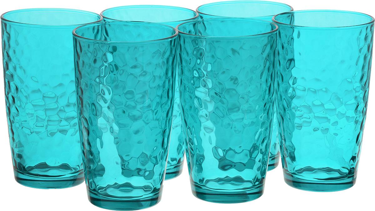 Набор стаканов Bormioli Rocco Палатина, цвет: голубой, 6 шт662530M02321588Набор Bormioli Rocco Палатина, выполненный из стекла, состоит из 6 высоких стаканов и предназначены для подачи холодных напитков. С внутренней стороны поверхность стаканов рельефная, что создает эффект игры и преломления. Стаканы Bormioli Rocco Палатина станут идеальным украшением праздничного стола и отличным подарком к любому празднику.Объем стакана: 490 мл.Диаметр стакана по верхнему краю: 8,5 см.Высота стакана: 14,5 см.