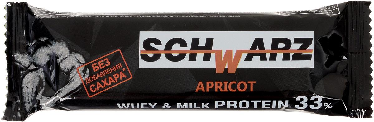 Schwarz Батончик со вкусом Курага с высоким содержанием протеина 33%, 50 г каши heinz молочная каша 5 злаков с бананом и яблоком с 6 мес 250 г