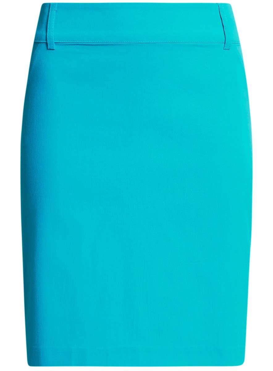 Купить Юбка oodji Ultra, цвет: бирюзовый. 11610003B/14007/7300N. Размер 38-170 (44-170)