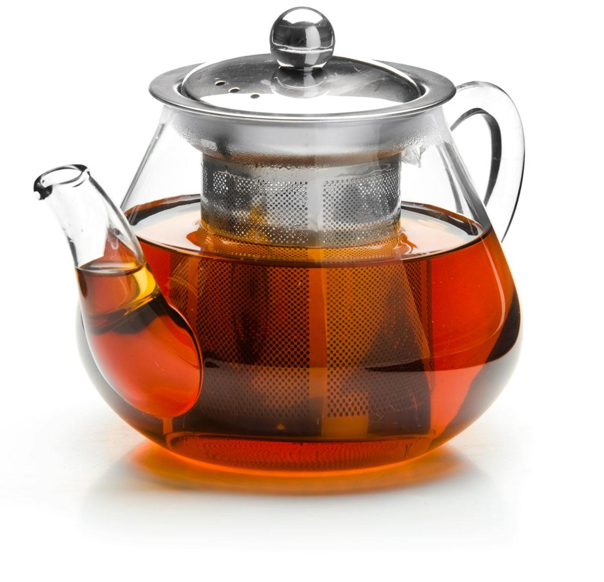 Чайник заварочный Mayer & Boch, с ситом, 600 мл. 2620126201Заварочный чайник изготовлен из термостойкого боросиликатного стекла, крышка и фильтр выполнены из нержавеющей стали .Изделия из стекла не впитывают запахи, благодаря чему вы всегда получите натуральный, насыщенный вкус и аромат напитков. Подходит для мытья в посудомоечной машине.Объем чайника: 600 мл.